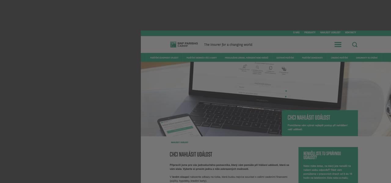 Ilustrační obrázek s textem - Settlement of Insured Event Completely Online